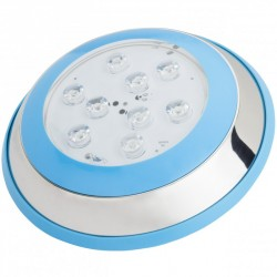 Foco de Piscina de LEDs Montaje Superficie Ø230mm 9W Luz: Blanco Natural