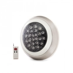 Foco de Piscina de LEDs Montaje Superficie Ø300mm 24W Multicolor con Mando
