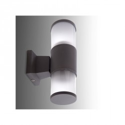 Aplique de Pared para Exterior (sin Lámpara) Base E27 Ø65mm IP65 Color Gris