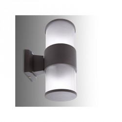 Aplique de Pared para Exterior (sin Lámpara) Base E27 Ø108mm IP65 Color Gris