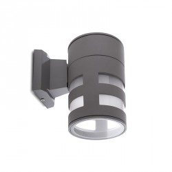 Aplique de Pared para Exterior (sin Lámpara) Base E27 Ø110mm IP65 Color Gris
