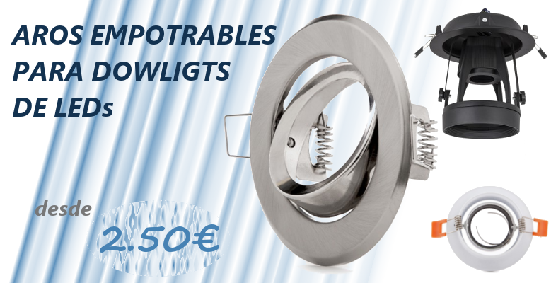 Aros empotrables para downlight de LEDs